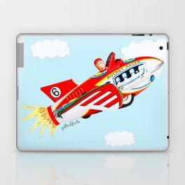 """""""Up, up and away!"""", the rocket man yelled.  Laptop & iPad Skin"""