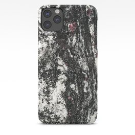 Black Web Dripping // Red Speckled Granite Stone Texture iPhone Case