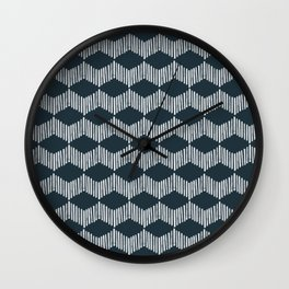 Acoustic Wave 2 > Navy Wall Clock