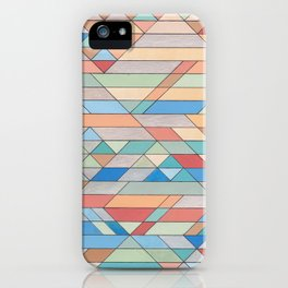 Triangle Pattern no.2 Colorful iPhone Case