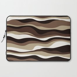 Cordillera Stripe: Brown  Cookies and Cream Combo Laptop Sleeve
