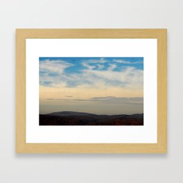 Mountains and Skies Framed Art Print
