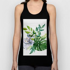 Flower and Leaves Unisex Tank Top