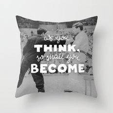 Bruce Says: As you Think Throw Pillow