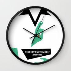 Darkest Hour gig poster Wall Clock