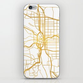 PORTLAND OREGON CITY STREET MAP ART iPhone Skin