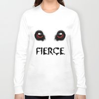 fierce Long Sleeve T-shirts featuring Fierce by Nicolekay