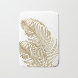 Palm Leaves Finesse Line Art with Gold Foil #2 #minimal #decor #art #society6 Bath Mat
