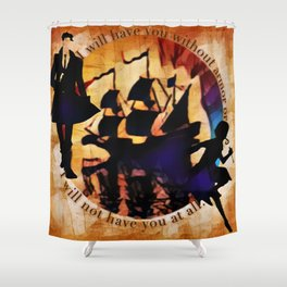 Kaz and Inej - armor Shower Curtain