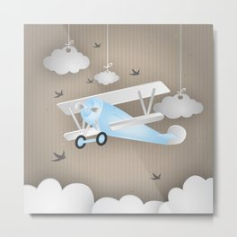Blue Plane Ride Metal Print