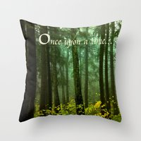 once upon a  time Throw Pillows featuring Once upon a time... by Armine Nersisian