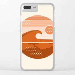 To The Max - retro vibes 70's socal beach waves surfing 1970s throwback minimalist art Clear iPhone Case