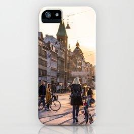 Nørrebrogade at Dusk iPhone Case