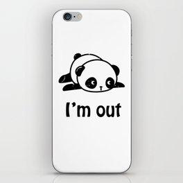 I'm out – Cute panda design iPhone Skin