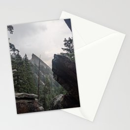 Flat Iron 1 During Rainstorm Stationery Cards