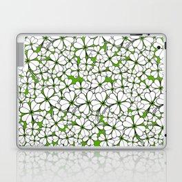 Line art - Clover : Green Laptop & iPad Skin