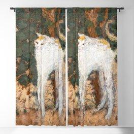 Pierre Bonnard - The White Cat / Le Chat Blanc Blackout Curtain