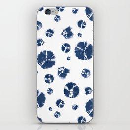 Shibori Polka Splotch Indigo Blue iPhone Skin
