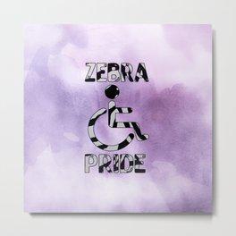 Zebra Pride Metal Print