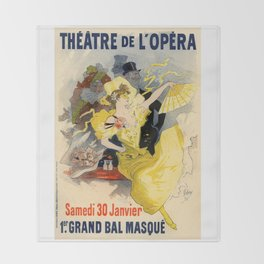 Belle Epoque vintage poster, French Theater, Theatre de L'Opera Throw Blanket