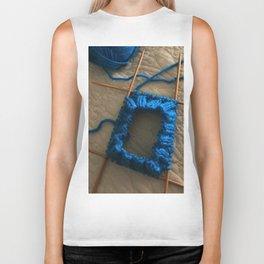 knit, knitting, royal blue, leg warmer, knitting, needles, blue, yarn, blue yarn, quilt, Biker Tank