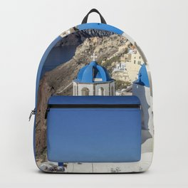 Santorini island Backpack