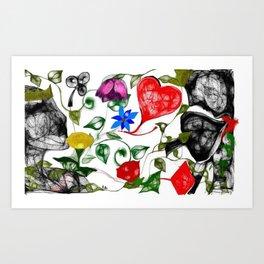 cut-throat game of spades spades Art Print