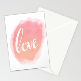 Pretty Love Print With Arrows Stationery Cards