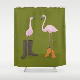 Fashion Flamingos Shower Curtain