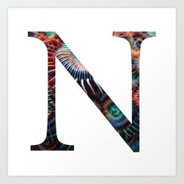 "Initial letter ""N"" Art Print"