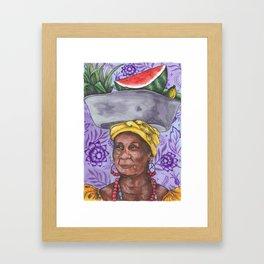 Fruits & Flowers // PURPLE Framed Art Print