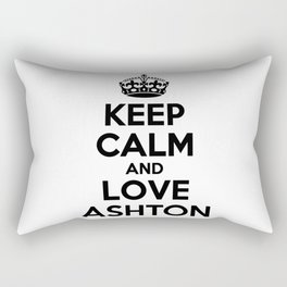 Keep calm and love ASHTON Rectangular Pillow