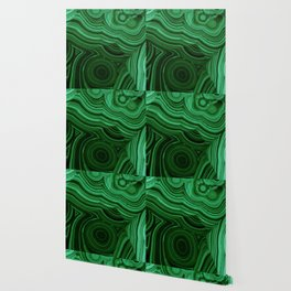 GREEN MALACHITE STONE PATTERN Wallpaper
