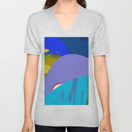 Sunrise under Platanus #2 Unisex V-Neck