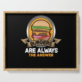 Burger Answer Serving Tray