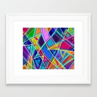 stained glass Framed Art Prints featuring Stained Glass by gretzky