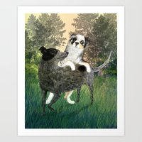 Golden Park Playtime Art Print