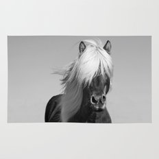 Portrait of a Horse in Scotish Highlands Rug