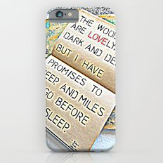 Stopping by woods - Robert frost Slim Case iPhone 6s