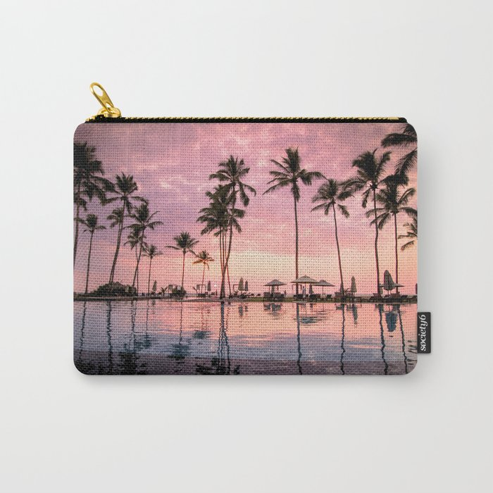 Pastel Sunset Palms Carry-All Pouch