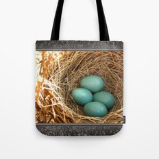 Four American Robin Eggs Tote Bag