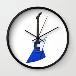 Blue Electric Guitar Wall Clock