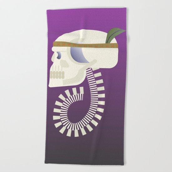 Indie G skull Beach Towel