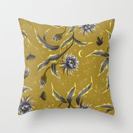 Queen of the Night - Gold Throw Pillow