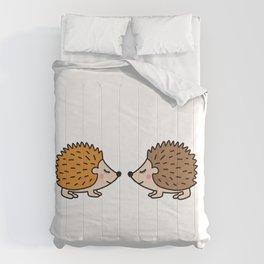 Cute hedgehog Comforters