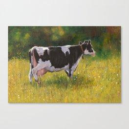 Bessie In The Pasture: Holstein Cow Canvas Print