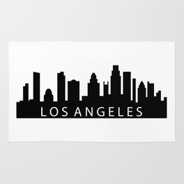 Los Angeles skyline Rug