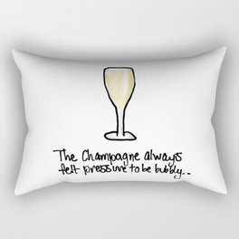 Champagne crisis Rectangular Pillow
