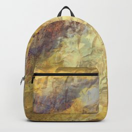 Golden Textures with Purple and Rust Backpack
