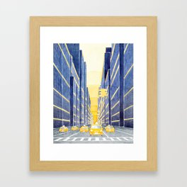 NYC, yellow cabs Framed Art Print